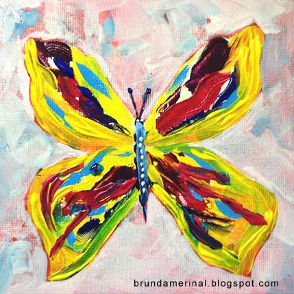 Realistic butterfly paintings - photo#19