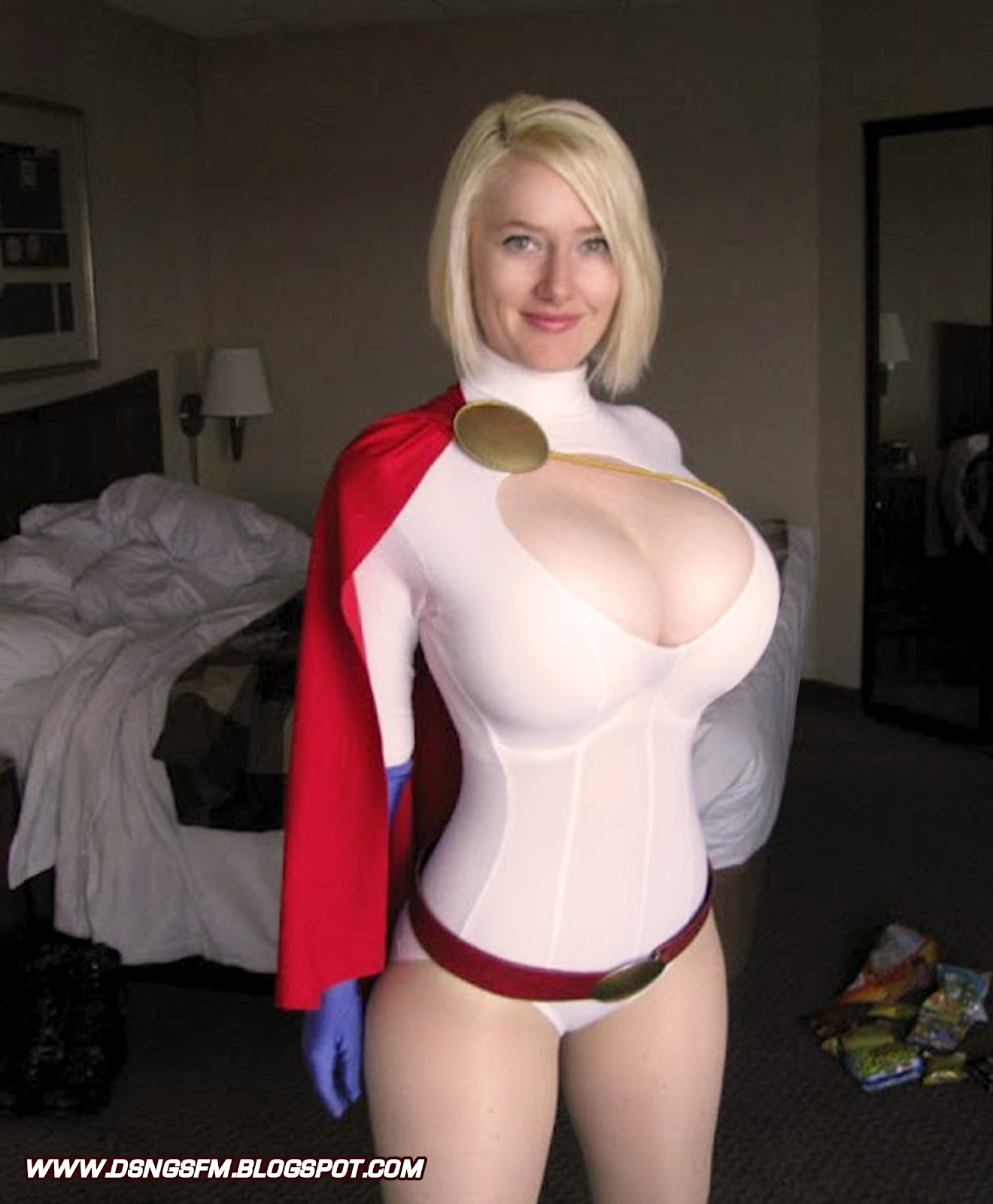 Opinion, big boob power girl cosplay