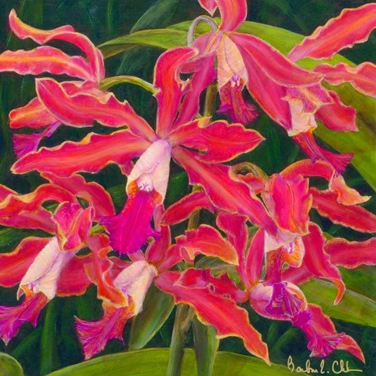 oleo-de-flores-coloridas