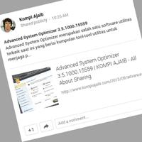 Kini Blogger Otomatis Share Postingan Blog Ke Google+