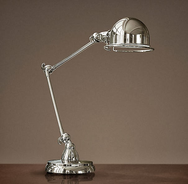 Copy cat chic restoration hardware atelier task table lamp - Restoration hardware lamps table ...