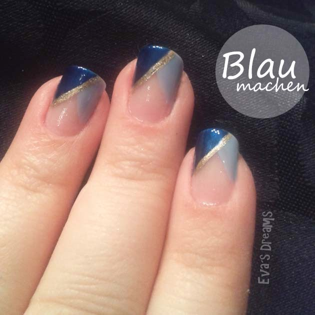 Nails of the week: Nails art - Blau machen