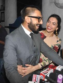 Media : Deepika Padukone Kisses Ranveer Singh