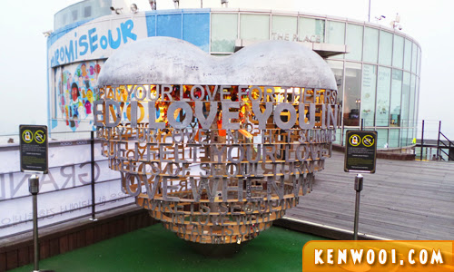 n seoul tower love thing