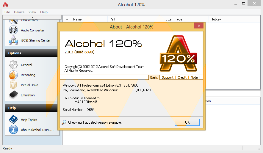 Alcohol 120 windows 7 crack key