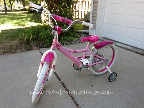 pink girls bike