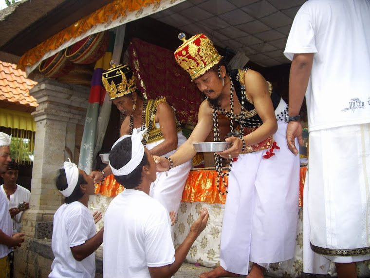 TIRTA (HOLY WATER) MOST POPULAR DRINK ON BALI, CEREMONY, COKORDA RAI, UBUD