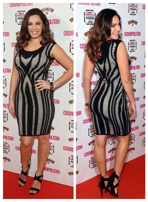 Well, what do you want to know for more? Kelly Brook still has a trick or two, up her sleeve when it comes to a dazzling red carpet performance.  The stunning brunette putting her long legs in a monochrome little dress as she lighting up the event by herself to the Cosmopolitan Awards at London, England on Wednesday, December 3, 2014.