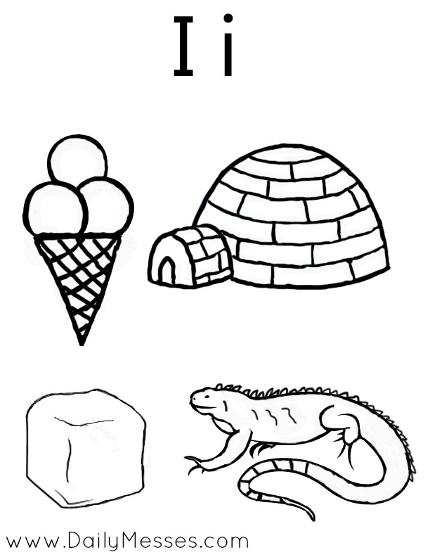 letter ii coloring pages - photo#23