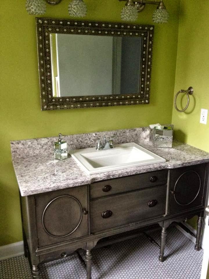 Julie Peterson Simple Redesign Buffet Turned Bathroom Vanity