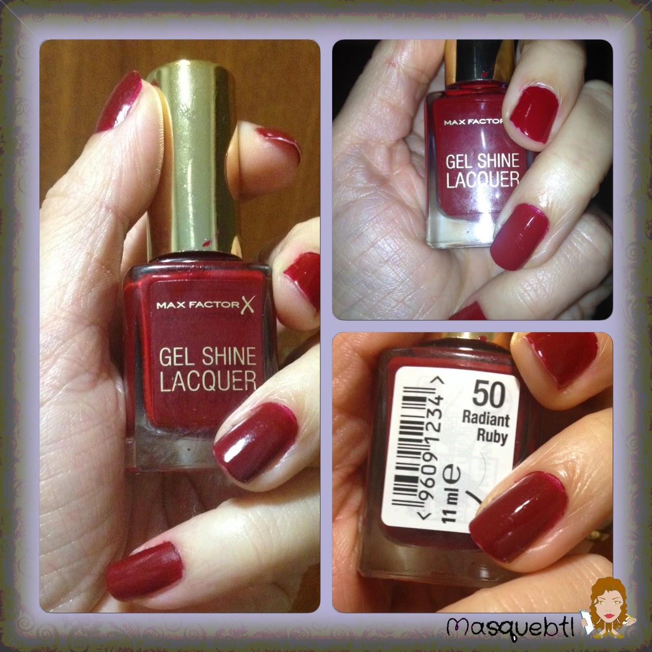 Masquebtl: He probado: Esmaltes de uñas Gel Shine Lacquer de Max Factor