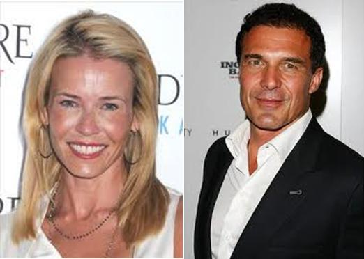 chelsea handler and andre balazs. Handler has also opened for
