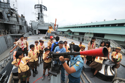TNI AL Gandeng Pramuka Kenalkan Dunia Bahari