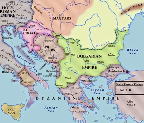 Magyars, Serbs, Croats, Bulgarian Empire, Pechenegs, Byzantine Empire, Kingdom of Italy and Roman Empire