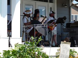 Hawaiian musicians at Sequim party
