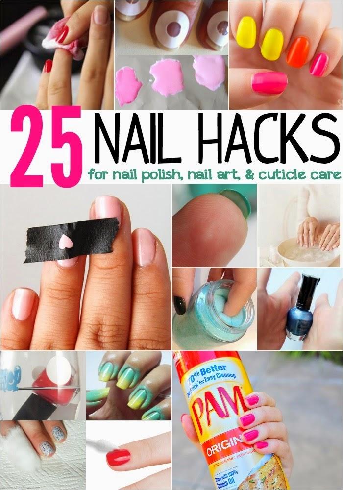 25 Nail Hacks For Nail Polish Nail Art Amp Cuticle Care