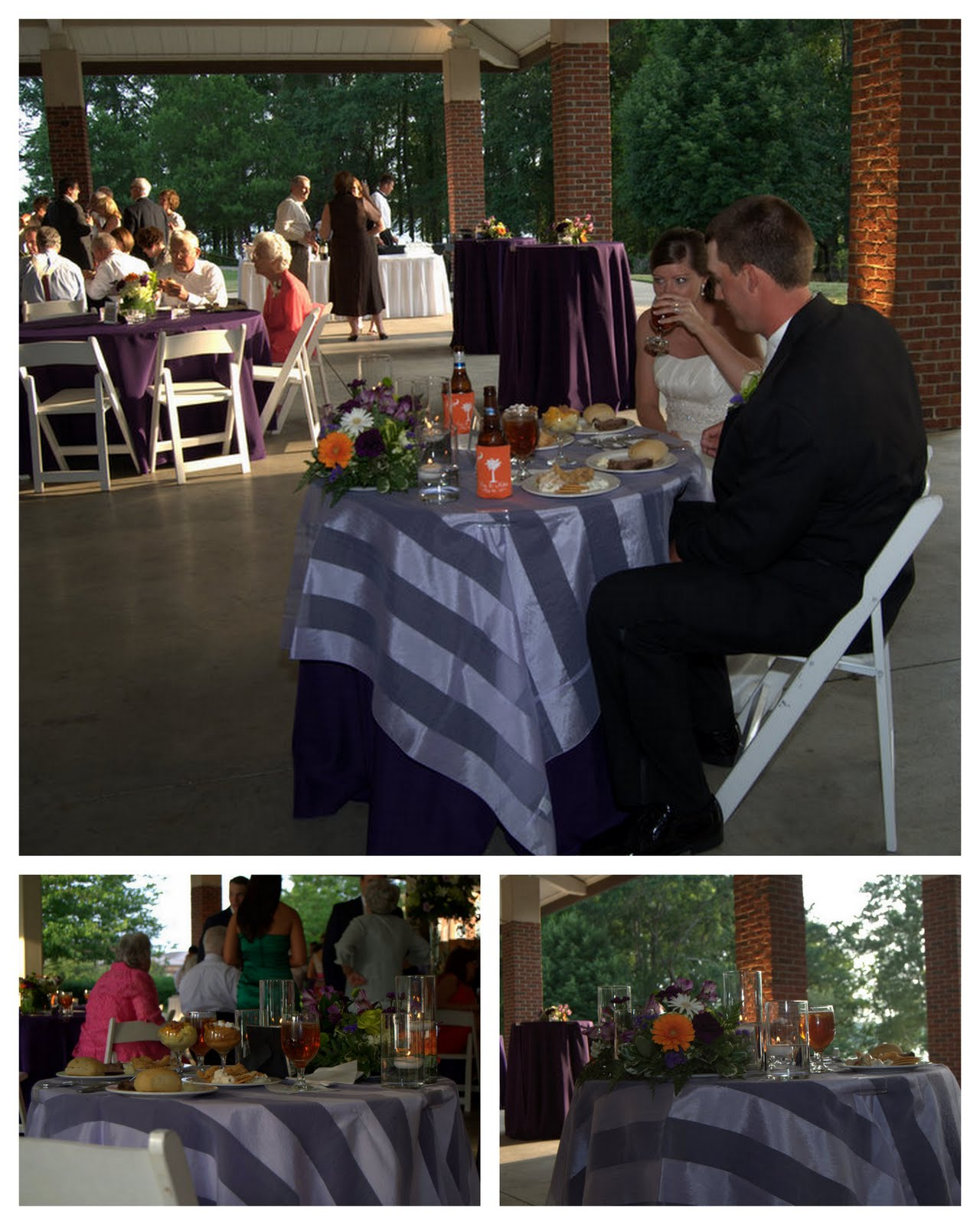 ... Used By The Couple For Toasting And The Clemson Tiger Made A Guest  Appearance. In All It Was A Beautiful Night And A Perfect Clemson Wedding.