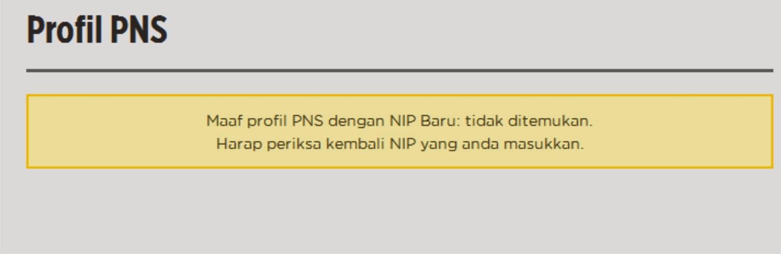Trik Melihat NIP CPNS K2