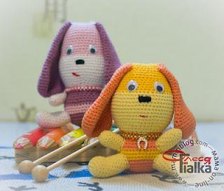 Описание и схема вязания амигуруми собачки Cool Doggy.
