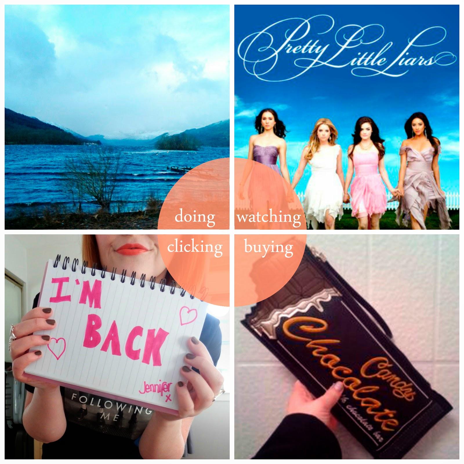 Round Up, January, January highlights, Oban, Pretty Little Liars, New Look chocolate bar bag, Glasgow Fashion Girl