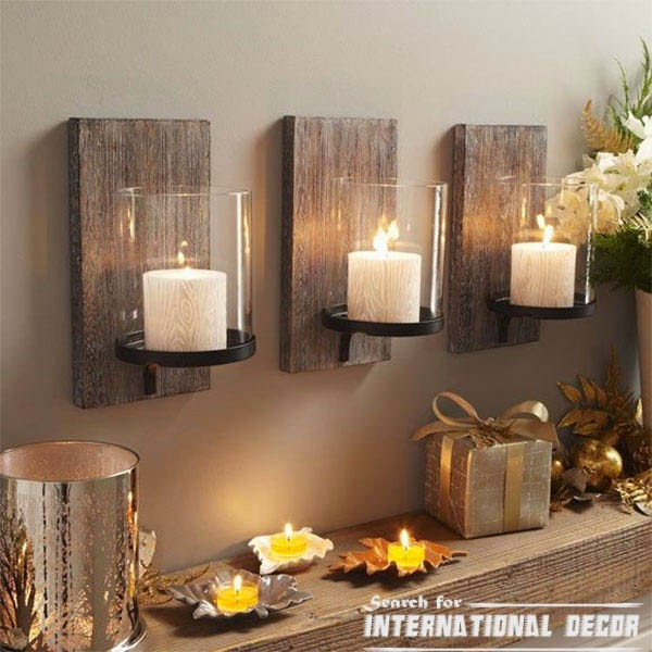 Creative recycle ideas, recycle ideas, wall candles holders