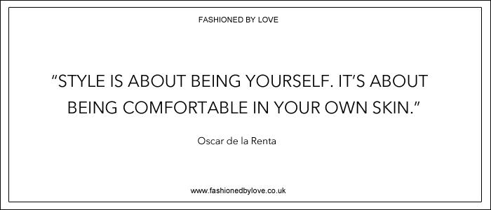 via fashioned by love | best fashion & style quotes | Oscar de la Renta