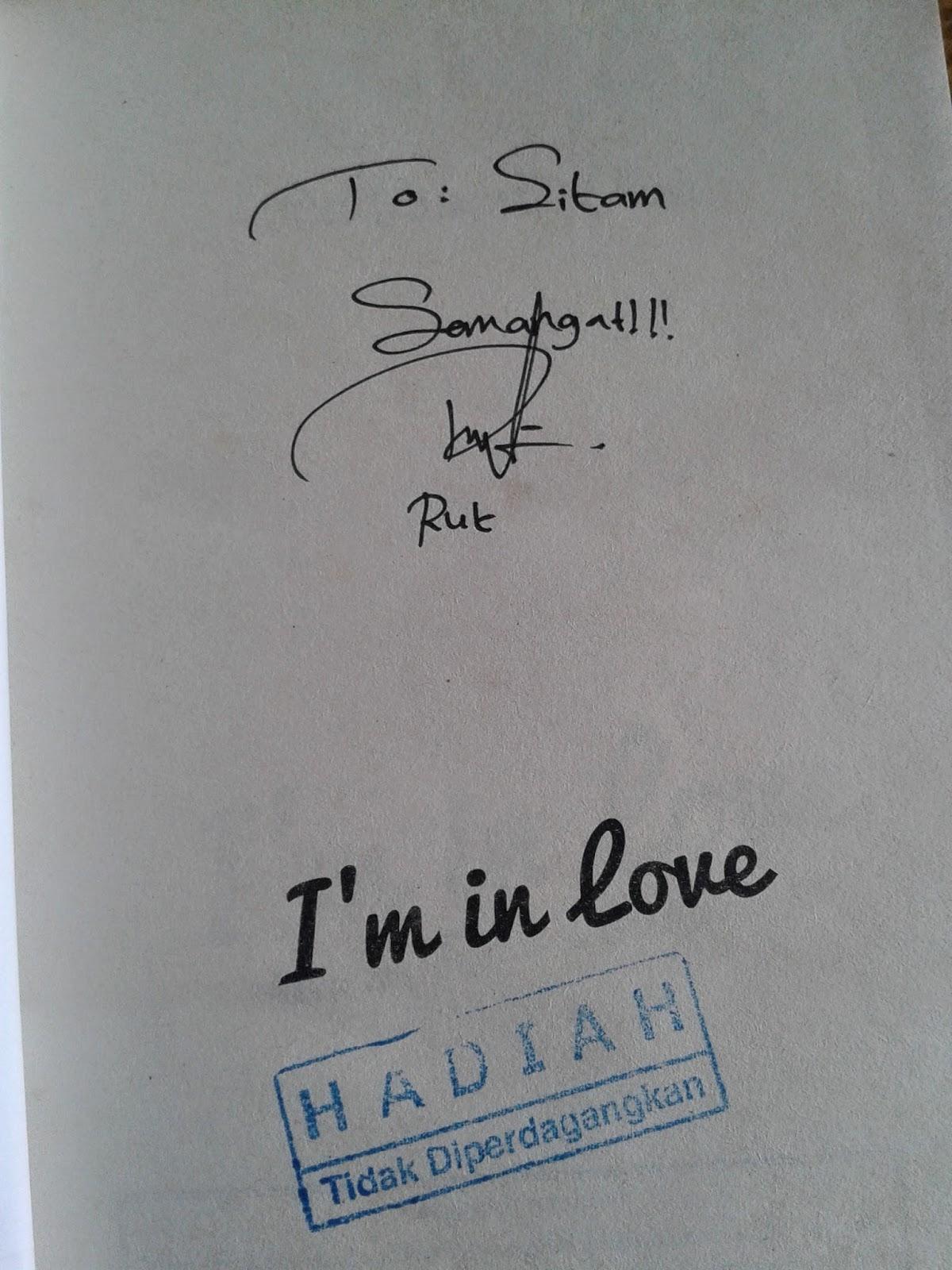 Tanda tangan Novel I'm in Love
