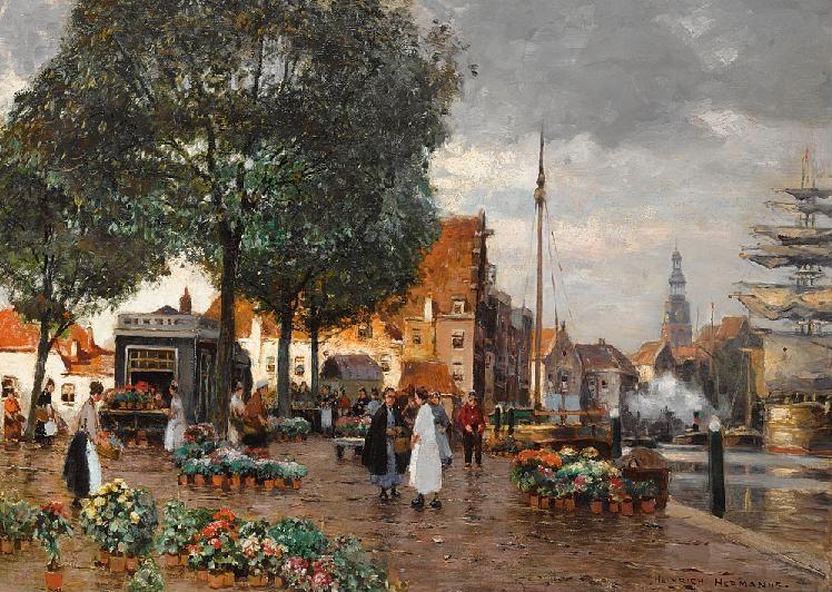 Heinrich Hermanns 1862 1942 German Painter Artists And Art