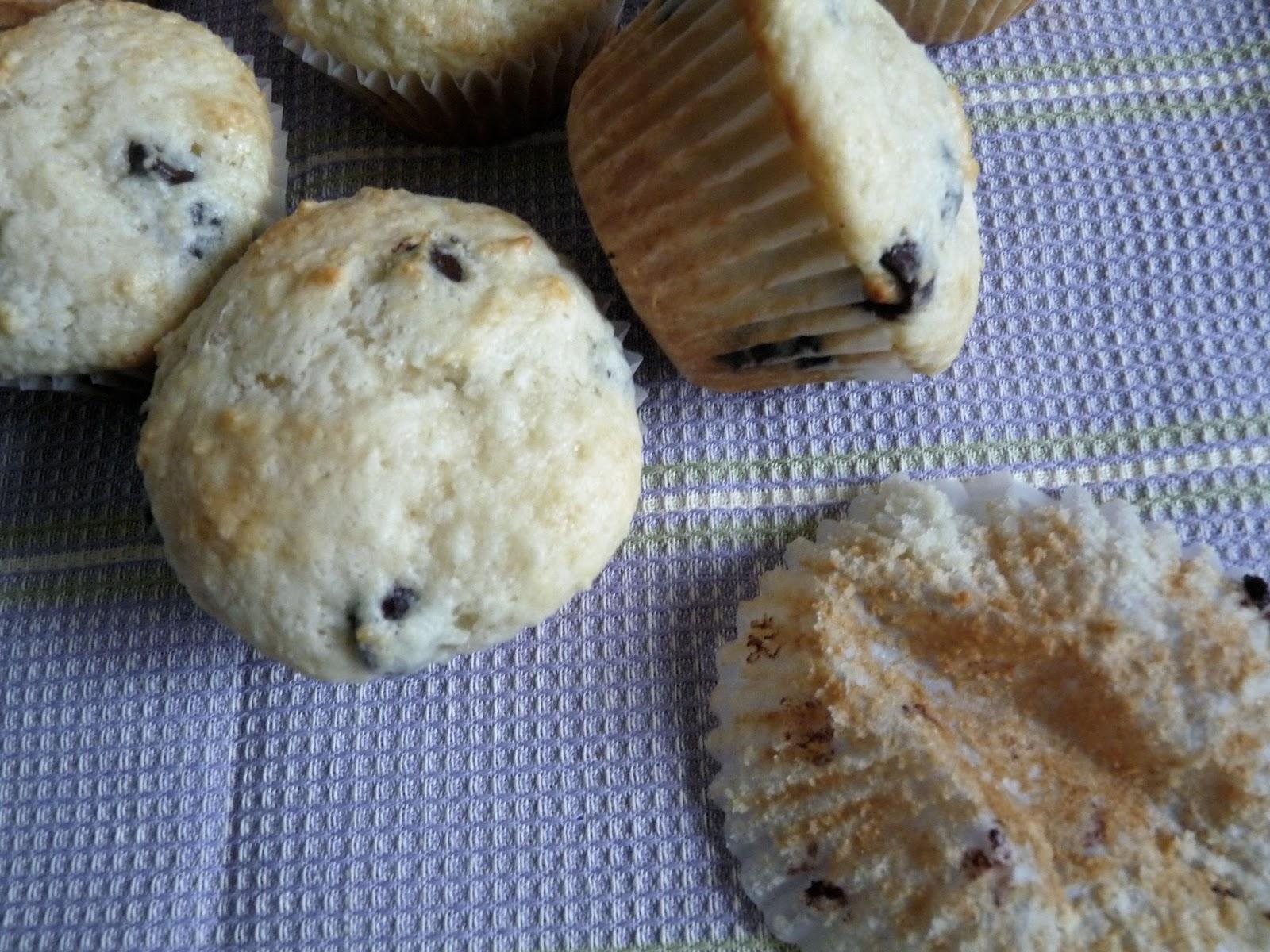 Sour Cream & Chocolate Chip Mini Muffins