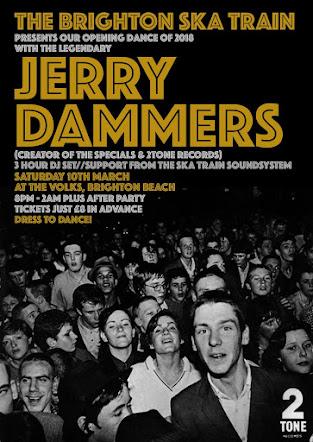 SATURDAY 10 MARCH<br>The Brighton Ska Train<br>With Jerry Dammers<br>The Volks Club, Brighton