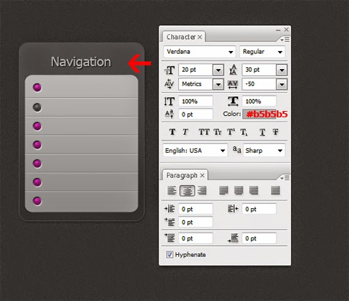 Create an OS X Vertical Menu In Photoshop