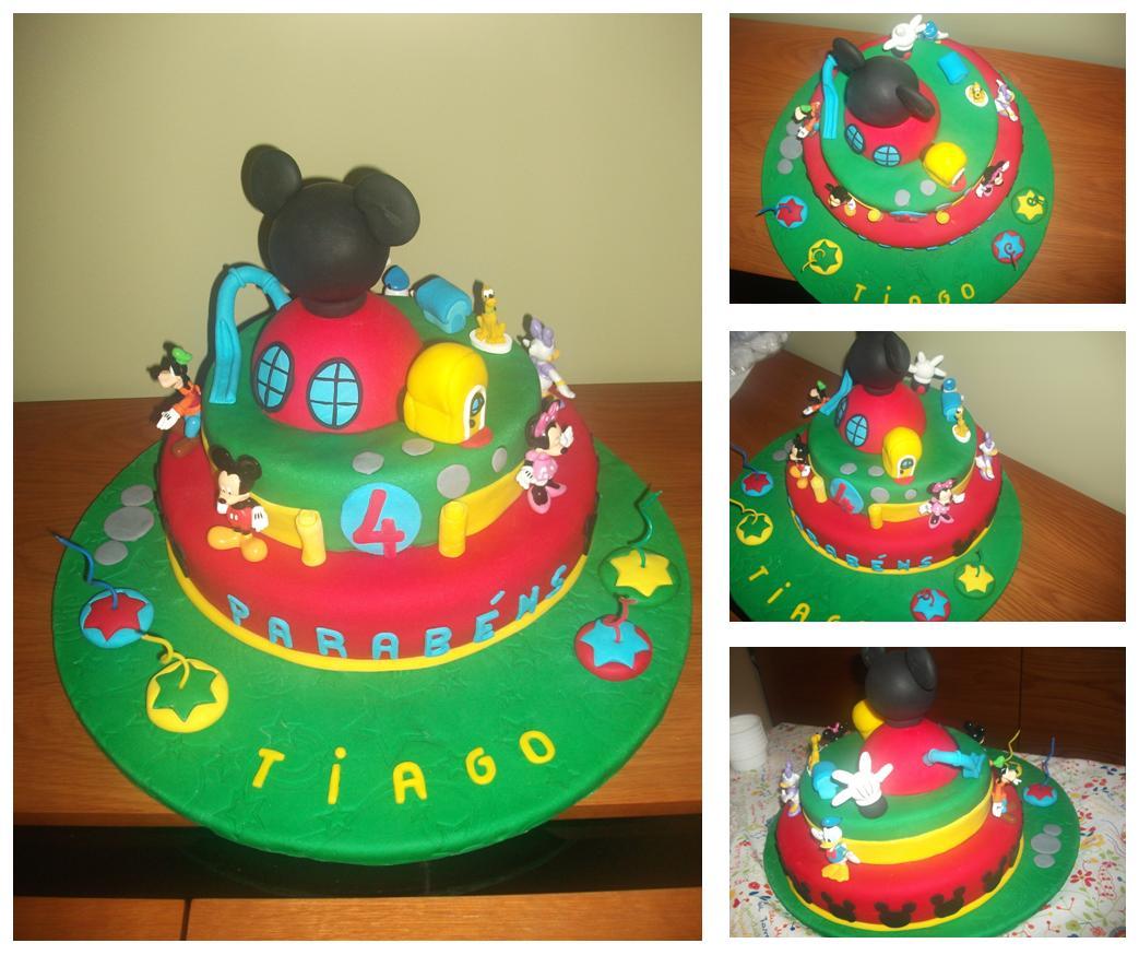 Bolo De Anivers  Rio Do Tiago Casa Do Mickey Mouse