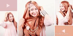 Cara Memakai Jilbab Pashmina Praktis