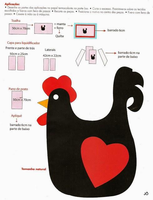 Molde de galinha para patch aplique