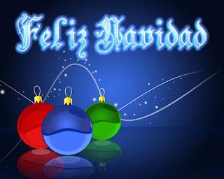 Feliz navidad con guirnaldas de navidad
