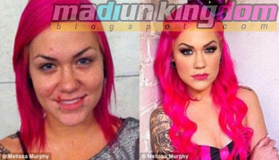 Melissa+Murphy Foto: 12 Artis Porno Sebelum dan Sesudah Make Up