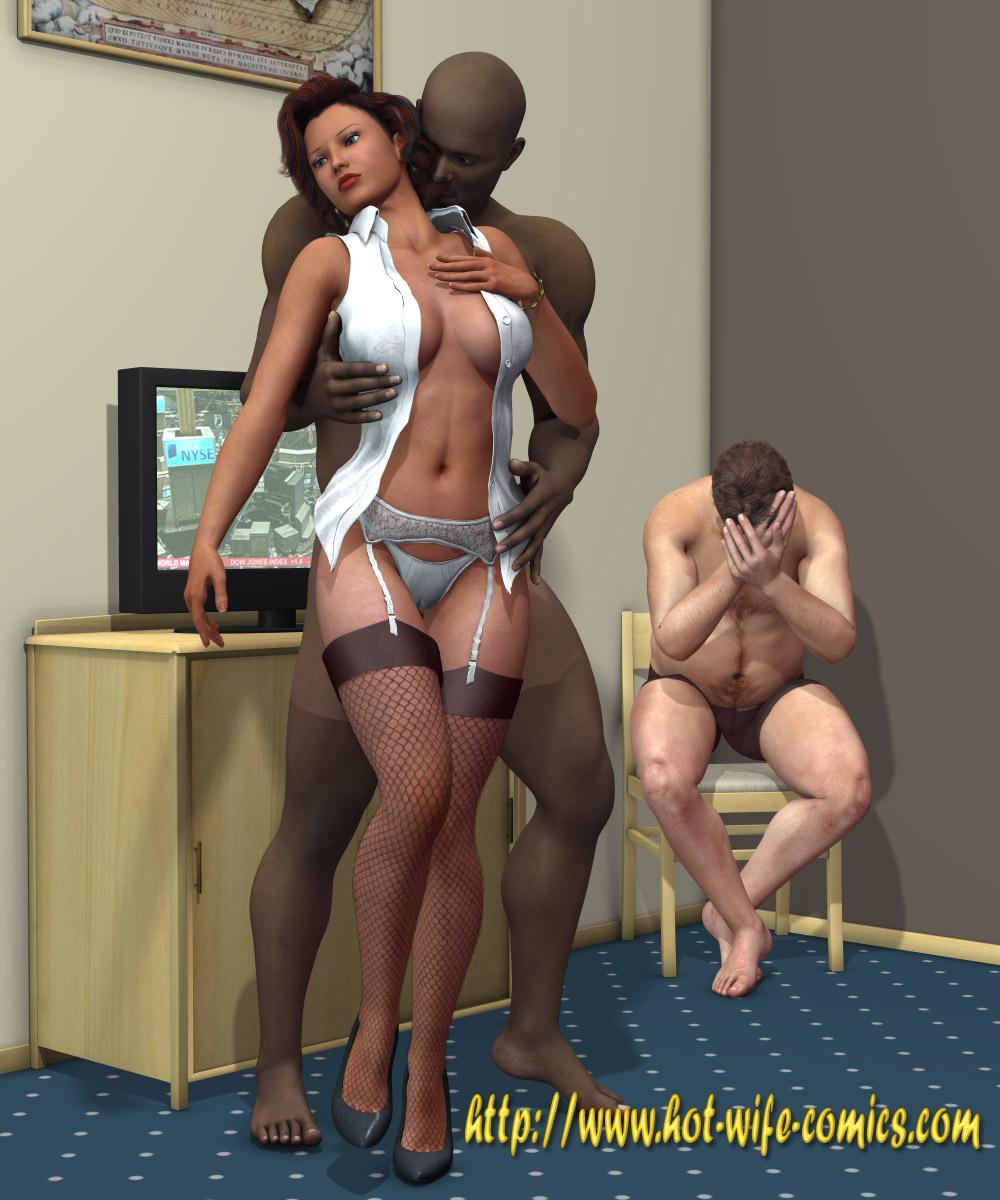Dirty ebony maid slut sucks deep throat big cock clean