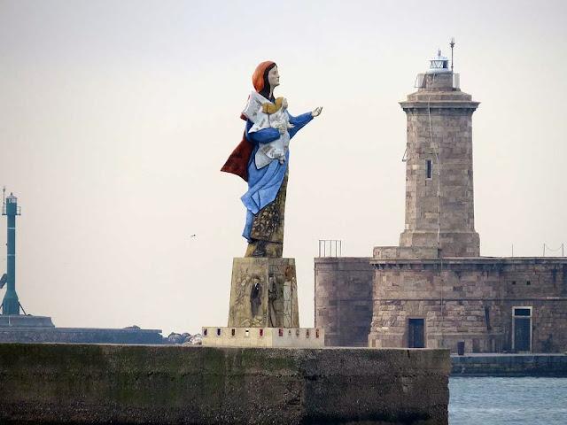Madonna dei Popoli di Paolo Grig?, porto di Livorno
