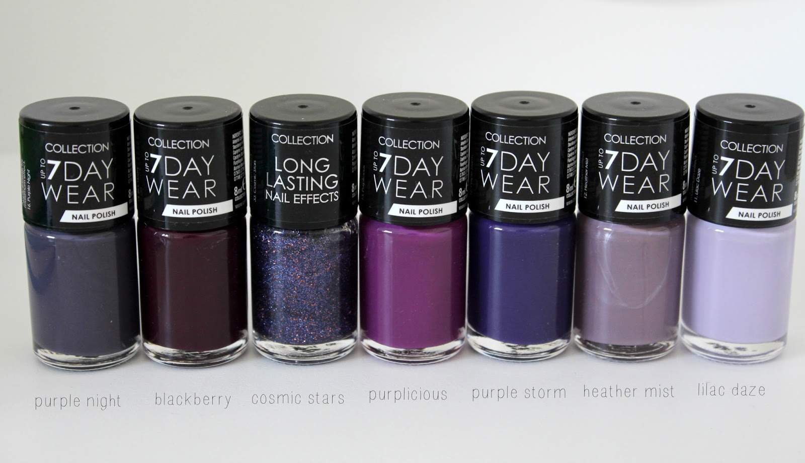 Collection 7 Day Wear & Long Lasting Nail Polishes ♡ | Brogan Tate