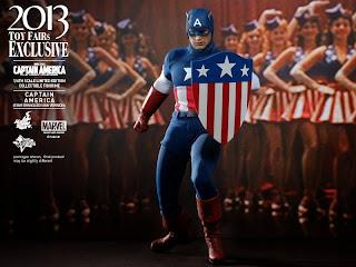 "Hot Toys 1/6 Scale Captain America First Avenger 12"" Star Spangled Man Captain America Figure"