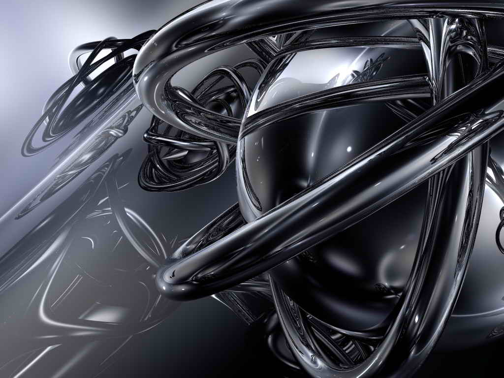 3d silver shape abstract wallpaper abstract graphic for Black and silver 3d wallpaper