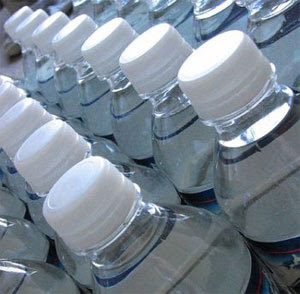 ... distilled water or salt solution. Packaging collection. Vector
