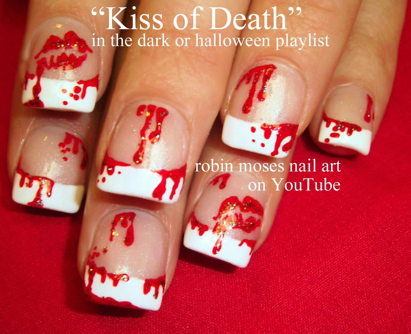 Robin moses nail art halloween nails halloween nail art halloween nails halloween nail art blood splatter nails bloody nails scary nails halloween nail art bloody nail art halloween ideas prinsesfo Choice Image