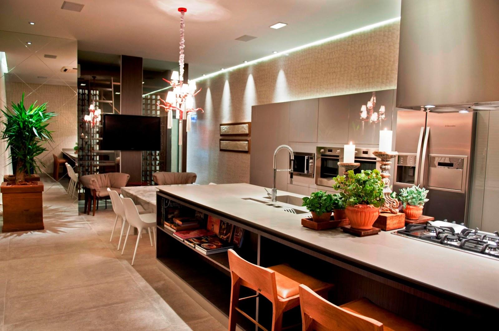 as cozinhas e áreas gourmet são fundamentais pois são locais de  #B34018 1600 1062