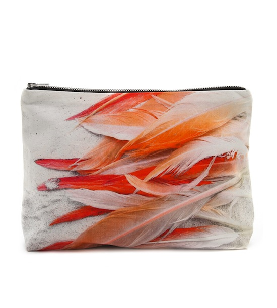 Samundra Flamingos Clutch Feathers Sand