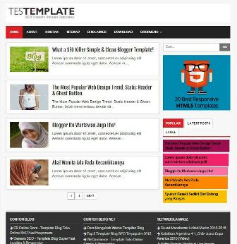 Template Blog  Simple