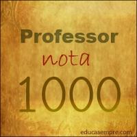 Selo professor nota 1000