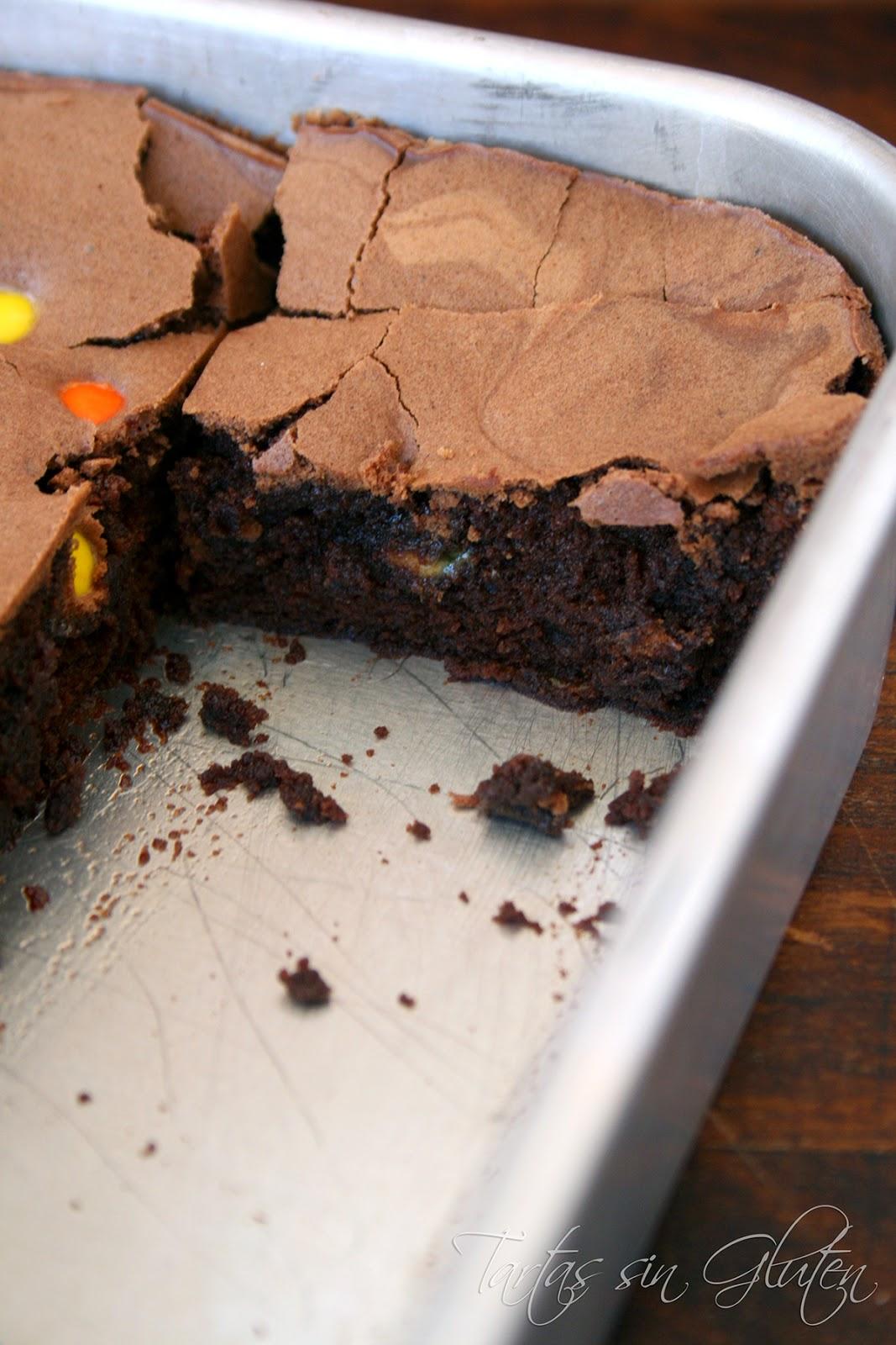 brownie con azucar moreno