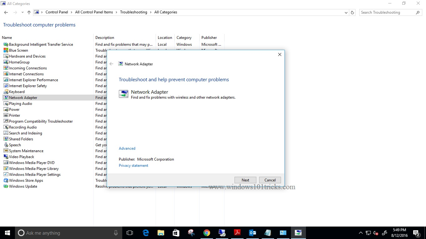 Network & Internet connection problems in Windows 10/8/7