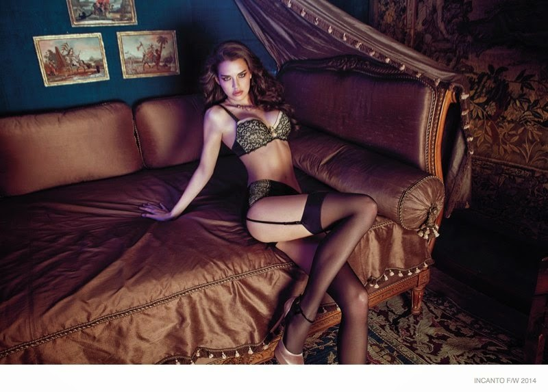 Incanto Lingerie Fall/Winter 2014 Campaign featuring Iris Kavka